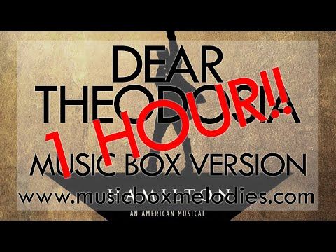 1 HOUR of Dear Theodosia by Hamilton - Music Box Version