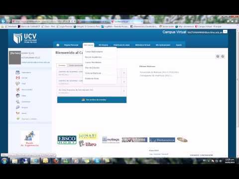 Ingreso Al Campus Virtual De La UCV