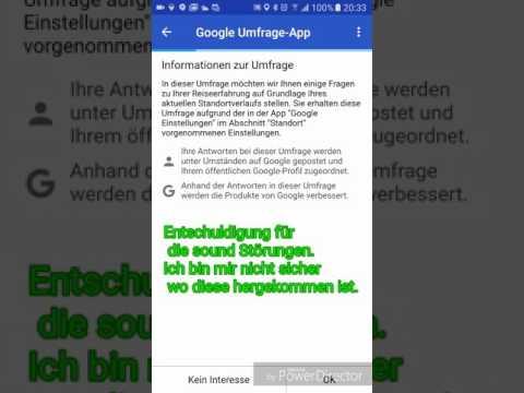Tipp Zur Google Umfrage App #1/2 - Deutsch
