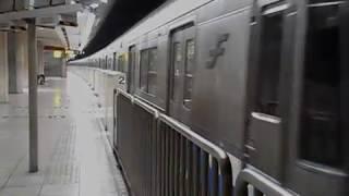 福岡市営地下鉄空港線(姪浜行)・赤坂駅を発車