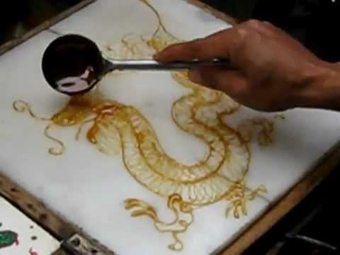 Sugar Painting - Chinese Dragon (糖画:龙)