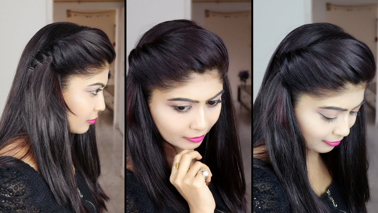 how to make side puff Hairstyle  10 minute side puff hairstyle  Rinkal Soni