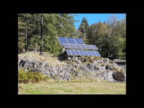 Gambier Island Solar with Battery Backup System