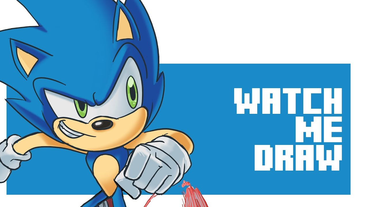 how to draw sonic dash