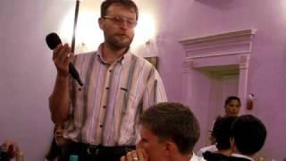 Свадьба Ани и Юры, поздравление Бориса за столом (14)