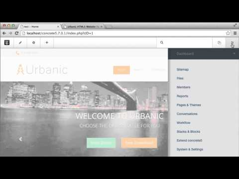 Converting an HTML Template to a Concrete5 Theme