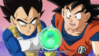 Goku, Vegeta, Whis & Beerus meet Future Trunks