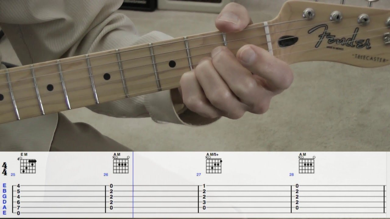 Just Like Starting Over Guitar Chords Wtabs Youtube