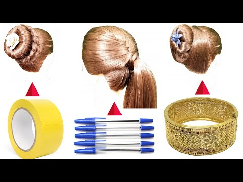 hairstyles-with-tricks-2020-||-bun-hairstyles-||-new-hairstyle-||-hairstyle