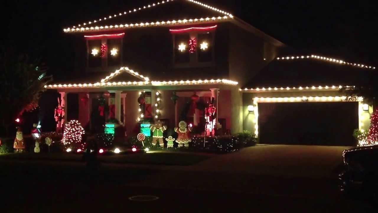 gingerbread house christmas light show winter garden fl youtube
