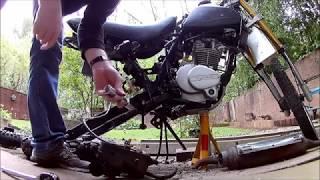 Lifan GY 200 / 125 3A New Rear Swing Arm & Wheel Installation.