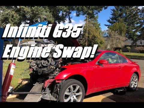 Infiniti G35 Engine Removal DIY!