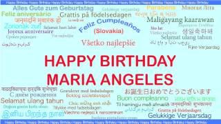 MariaAngeles   Languages Idiomas - Happy Birthday