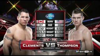 Stephen Thompson vs Chris Clements