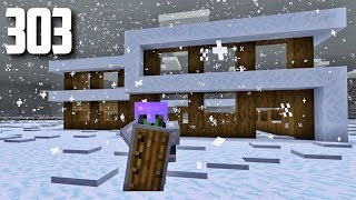 Let's Play Minecraft - Ep.303 : Modern Winter House/This Biome Is Rough!