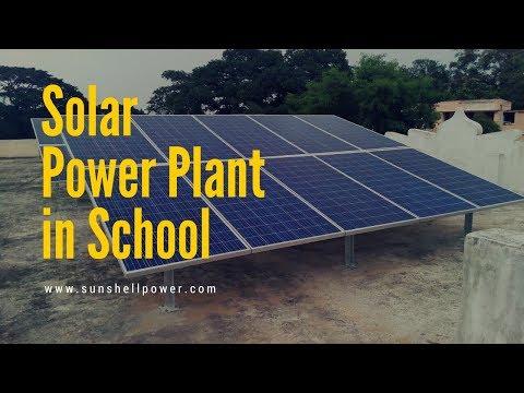 Solar power plant in school