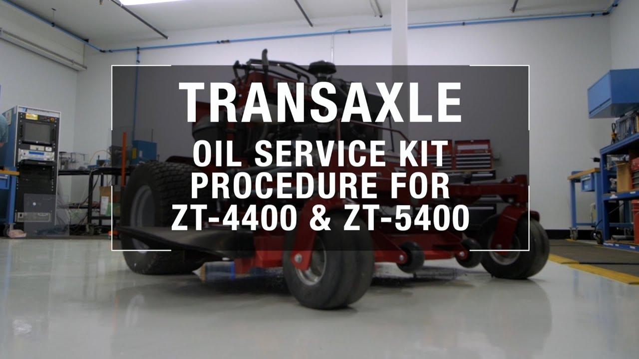 Hydro-Gear ZT-4400 & ZT-5400 Oil Change Instructions