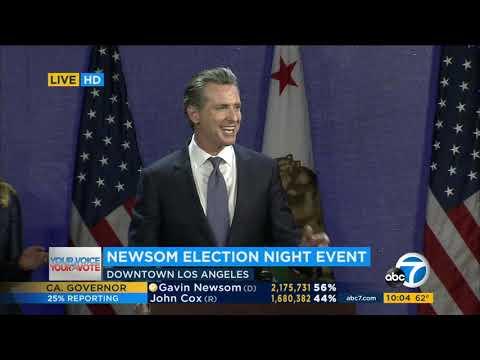 Newsom Wins CA Governor's Race Over Cox | ABC7