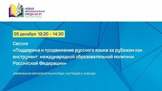 Общий чат: Сессия «Поддержка и продвижение русского языка за рубежом»