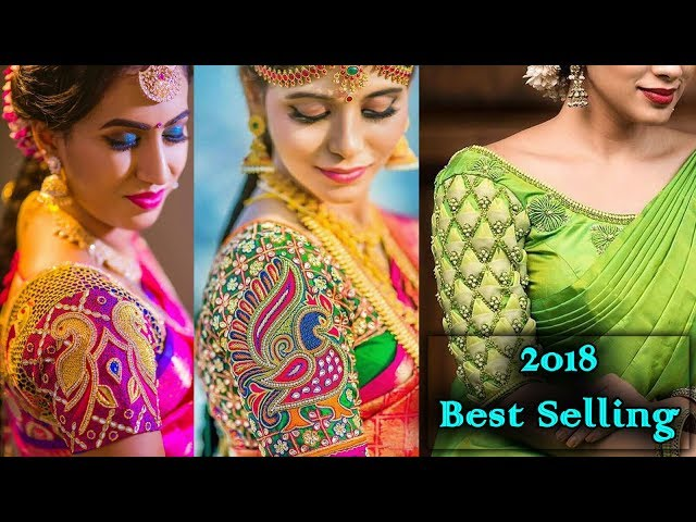 Latest Top Creative Best Selling Designer Maggam Work Blouse Designs for Saree Ideas