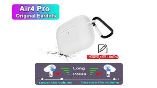 Eardots 2020 New Air4 Pro TWS With Volume Control PK Airpods Pro i9000 i900000 Pro Air 4 Air3