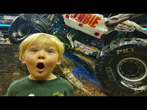 Monster Jam Backstage & Pit Party - Monster Mutt and Zombie's biggest fans.