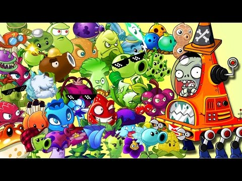 Plants vs. Zombies 2 it's about time: Every Plant Power Up vs Robo-Cone Zombie