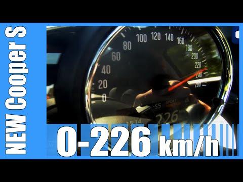 2016 NEW! Mini Cooper S F56 0-226 km/h FAST! Acceleration Beschleunigung Autobahn Test