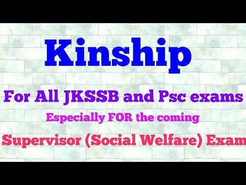 Kinship.. for jkssb Supervisor sociology