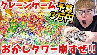 【崩壊】クレーンゲームでお菓子の山の雪崩を起こすぜ!!!【予算3万円】【ヒカキンTV】