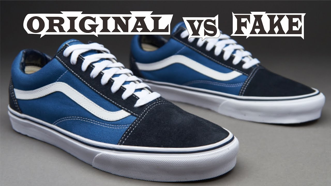 77f06ec508 Vans Old Skool Navy Original   Fake - YouTube