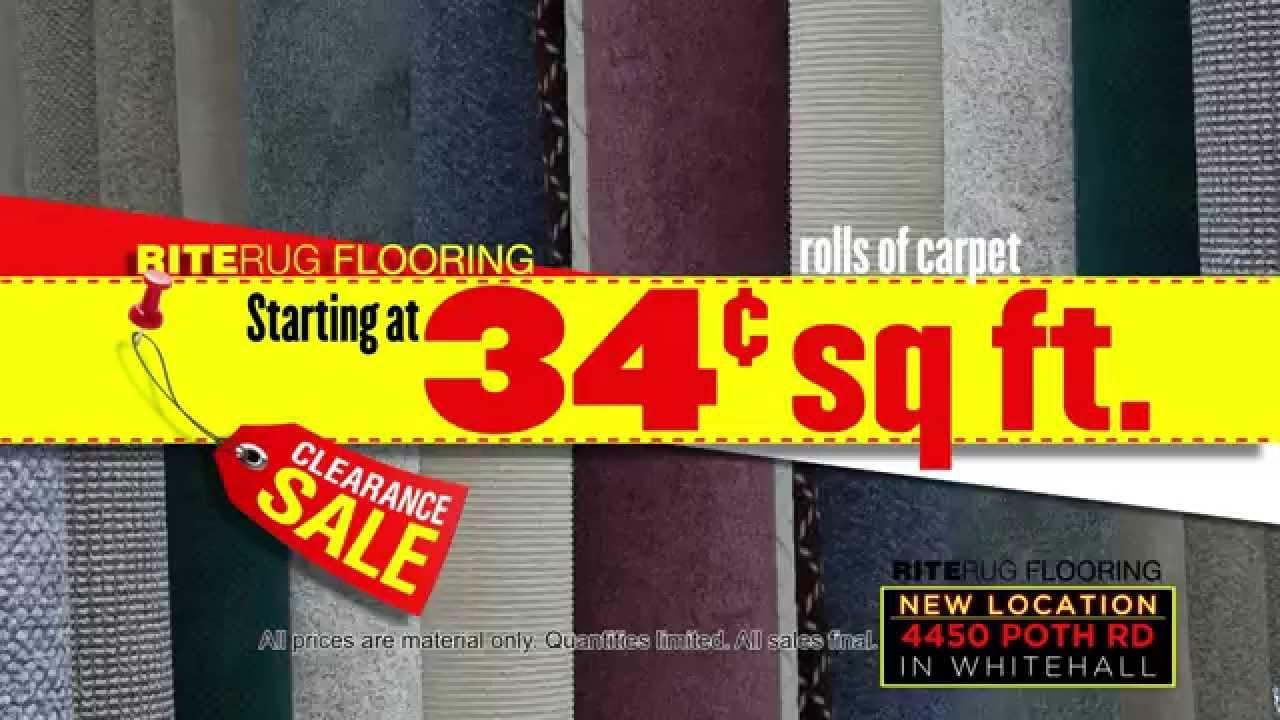 Warehouse Clearance Sale   Rite Rug