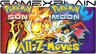 Pokémon Sun & Moon - All 26 Z-Moves