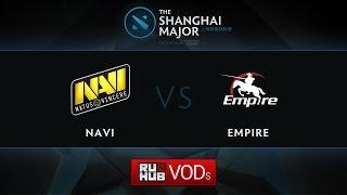 Navi vs Empire, Shanghai Major Quali EU, Game 2