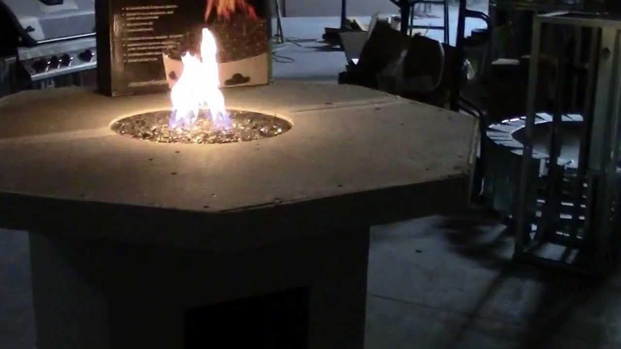 New Octagon Fire Pit Table Kit YouTube - Octagon propane fire pit table