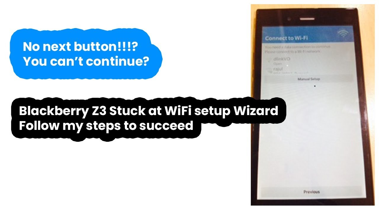 Solved: Blackberry Z3 stuck on finalizing device setup WiFi screen/Showing  exclamation mark