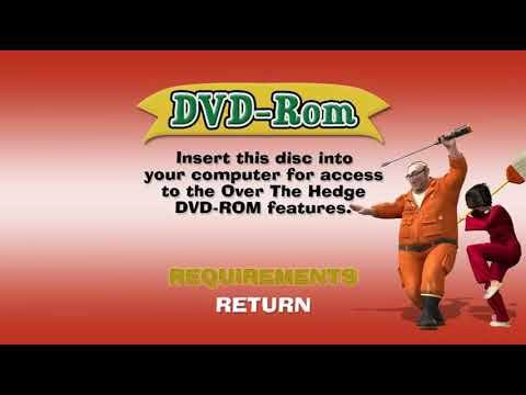 Over the Hedge DVD Menu Walkthrough