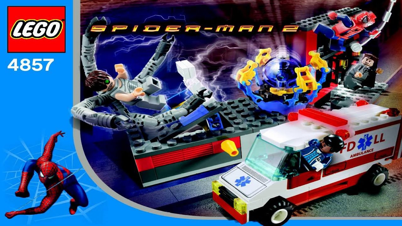 4857 lego spiderman doc ock 39 s fusion lab instruction booklet youtube - Lego spiderman 2 ...
