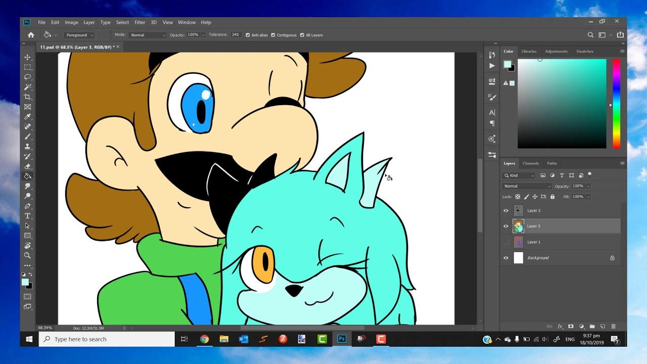 Speedpaint Luigi And Ciel