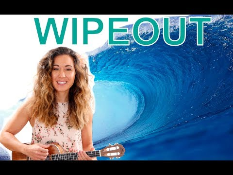 Wipeout - The Surfaris Ukulele Tutorial with Play Along