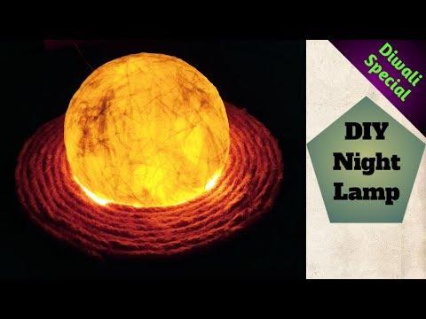 DIY Night Lamp   Diwali Decoration Idea   Center Table Lamp   Paper Lamp   #105