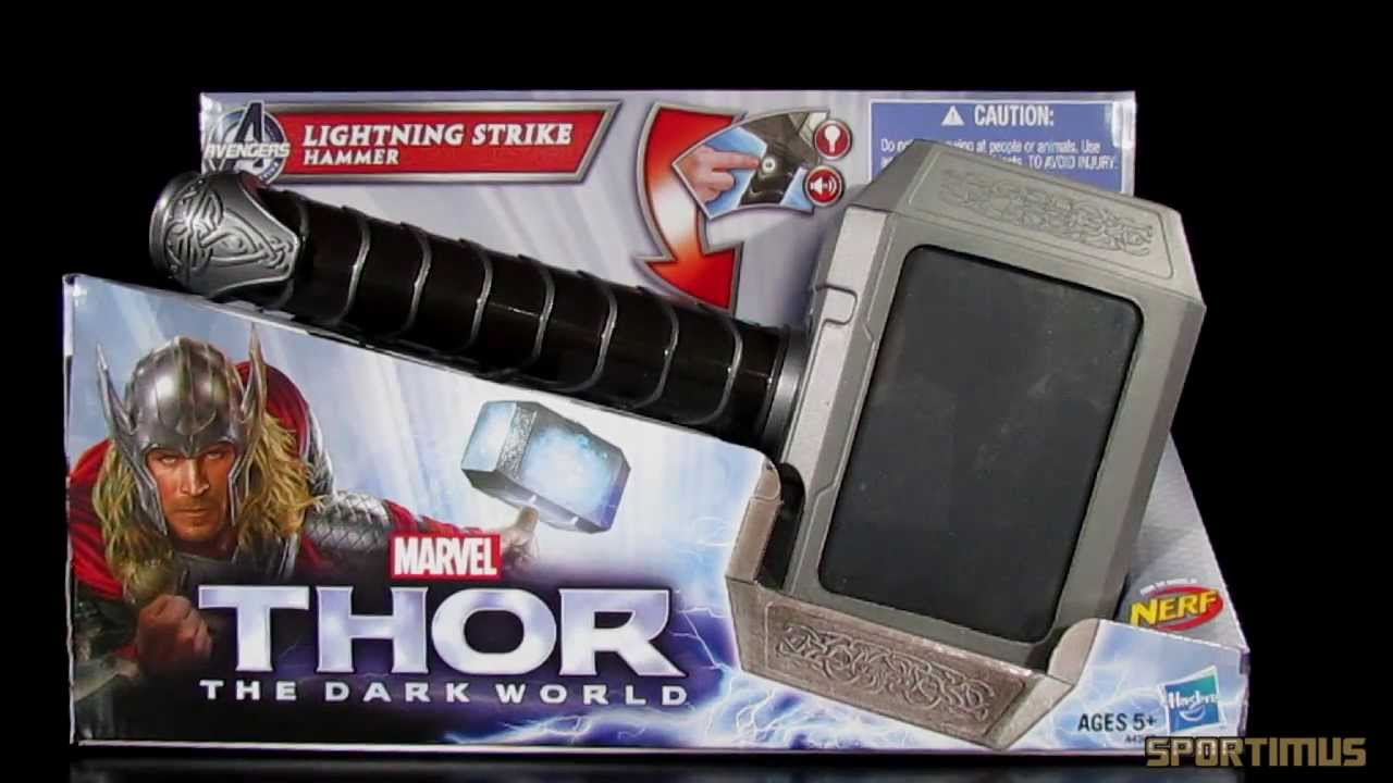 thor the dark world lightning strike hammer role play toy video