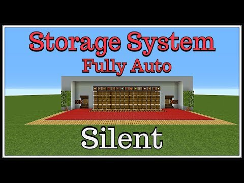 "Minecraft Tutorial :Fully Automatic Storage System ""Silent"""