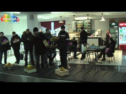 Предновогодний флэшмоб в аэропорту Архангельска