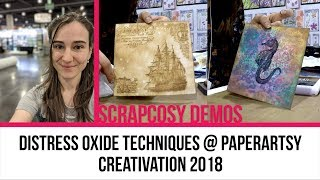 Creativation 2018 Live demo scrapcosy with distress oxides