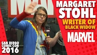 Margaret Stohl Black Widow Writer on Marvel LIVE! at San Diego Comic-Con 2016