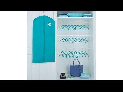 Huggable Hangers 35pc Luxury Set w/Garment Bag Chrome