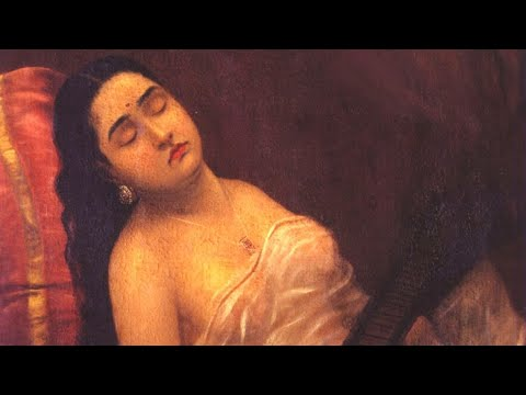 Sleeping Beauty of Urvasi by Raja Ravi Varma