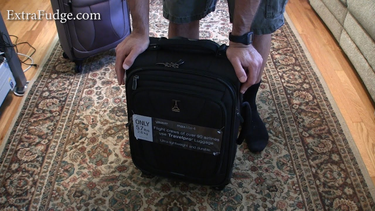 3fd7280b3 Travelpro Maxlite 4 International Carry-On Spinner Suitcase Review ...