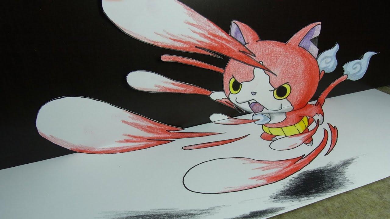 妖怪ウォッチアニメジバニャンの絵イラストを動画で描いてみた妖怪